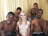 Four black guys and one white girl