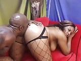 Hot busty ebony loves black cock