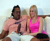 Sexy blonde Kate England gets massive black cock in ASSHOLE