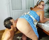Pregnant Cooking Mom Gets A Fuck From Her Son Right In Her..
